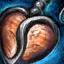 Guild Wars 2 Boucle d'oreille en argent et en pierre solaire
