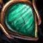 Bijou orné de malachite
