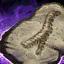Fossilized Wurm Spoor