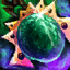 Emerald Orichalcum Earring