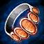 Guild Wars 2 Bague en argent et en pierre solaire