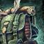 Guild Wars 2 Sac à dos de travailleur du cuir orné