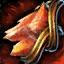 Guild Wars 2 Boucle d'oreille en or et en cornaline