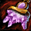 Guild Wars 2 Boucle d'oreille en or et en améthyste