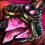Guild Wars 2 Boucle d'oreille en or et en spinelle