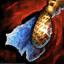 Guild Wars 2 Boucle d'oreille en or et en lapis