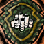 Guild Wars 2 Insigne en laine brodée chasseur