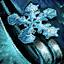 Guild Wars 2 Boucle d'oreille en mithril et en flocon